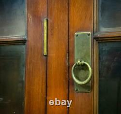 Attractive Very Large Antique Mahogany Six Door Bookcase Armoire