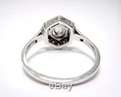 Bague À Diamants De Style Art Déco, 0.90ct En Or Blanc À 18 Carats