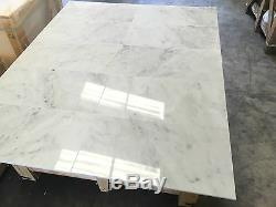 Bianco Carrara, Carrelage En Marbre Poli, Sol Et Mur Carreaux, 12x24, Joblot 24m2