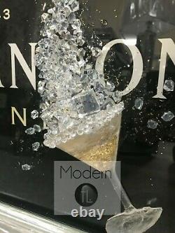 Black Moet & Chandon Champagne Photo Avec Lunettes 3d Et Sparkle Detail