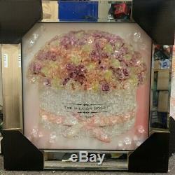 Bouquet De Fleurs Roses Rose En Cristal De Diamant Liquide Art Miroir Cadre Mur