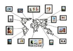 Brand New Géométrique Planisphère Métal Wall Art Décor Cadres Photo Dont 15