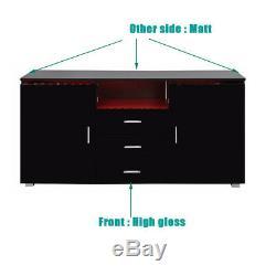 Buffet Noir Coffres À Tiroirs Coffres Haute Brillance 16 Couleurs Rgb Light Belt
