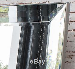Cadre De Bordure En Placage De Miroir Vénitien Grand Format Overmantle, Mur 31 X 43