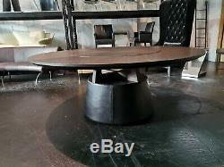 Camerich Noix Unity Dining Table Lasy Susan Base En Cuir