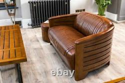 Canapé En Cuir Luxueux Art Déco Canapé Classique Stlye Canapé En Cuir 1930 Style