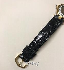 Cartier Must VLC Sm Montre Sur Bracelet Noir Avec Trinity Dial Couleur