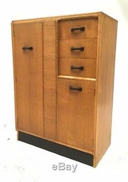 Century Vintage Retro MID 1960 Blonde Oak G Plan Brandon Tallboy Garde-robe