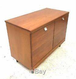 Century Vintage Retro Milieu Des Années 1960 White & Newton Compact Teck Lp Cabinet Enfilade