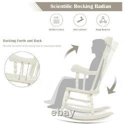 Chaise À Bascule En Bois Porch Rocker Intérieur Extérieur Loisirs Chaise Lounge Siège