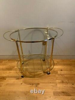 Chariot De Bar Art Déco/drinks Trolley Gold