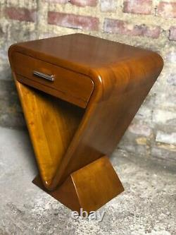 Chevet / Table De Style Art Déco En Noyer