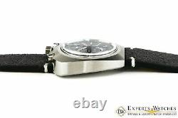 Chronographe Lemania Bull Head 872 Omega 930 Watch Cpo Des Années 1970
