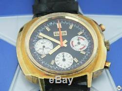 Chronographe Valjoux 7736 Montre Panda Cal 330 (73643 814) Boîte De Vintage Elgin 60