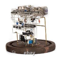 Classic Vintage In-12 Nixie Tube Horloge Kit Bricolage / Assemblé Avec Boîtier En Verre Rond