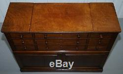 Collectionneurs Fruitwood Victorienne Commode Armoire Buffet Ouvert Flat Top