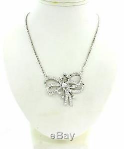 Collier Pendentif Avec Diamants De Style 2.75ctw De Style Art Déco Vintage Des Années 1950