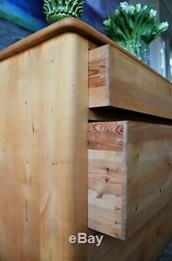 Commode Début Du 20ème Siècle Suédoise Biedermeier Birch Chambre À Coucher Side Table