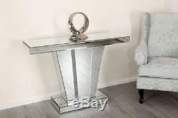 Console Console Miroir Table D'appoint Miroir Argent Miroir Moderne Salon En Verre