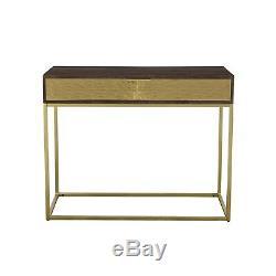 Console En Bois Et D'or Noir Massif Table De Style Art Déco Sunburst Sun002