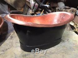 Copper Basin Baignoire Extérieur Noir-sink Main Antique-bath Martelées À La Main