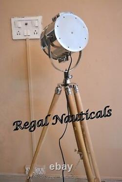 Corner Modèle Searchlight Teak Wood-stand Home Decor Spotlight & Tripod Stand