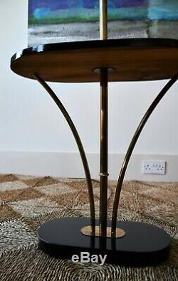 Cru Élégant En Français Ou En Laiton Italien Ébène Standard Sol De Lecture Lampe De Table