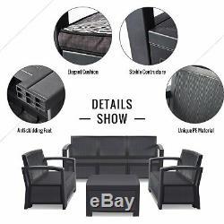 Cube En Rotin Meubles De Jardin Set Chaises Sofa Table Patio Extérieur En Osier 5 Seater