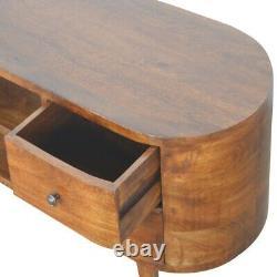 Danois Design Art Déco Style Tv Cabinet Media Unit Sideboard In Dark Wood Solid