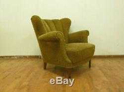 Dk053 Danoise Winged-back Lounge Chair Vintage Retro Twentieth Century