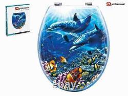Dolphin Design Wc Universal Toilet Seat Salle De Bains Avec Montage En Bois Mdf Easyfit