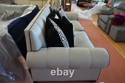 Duresta Frasier 4 Seater Sofa Geometric Print Fabrics Large Ex Display Settee