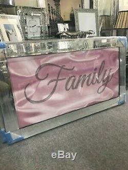 Éclat De La Famille Rose Paillettes Image Miroir, Cadre Miroir Image Scintillante