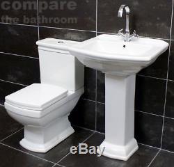 Ensemble De Toilettes Et Lavabo De Style Art Déco Harriet, Lavabo De La Suite, Style Traditionnel