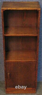 Étagères Oak Narrow Bookcase Des Années 1930