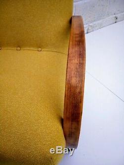 Fauteuil Art Déco En Bois Courbé (récemment Recouvert), Collection Margate Kent