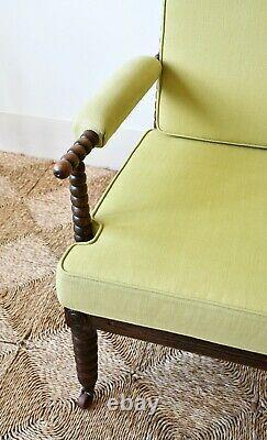 Fauteuil Attrayant De Chaise De Table De Sofa De Chambre À Coucher De Bureau De Bobbin Du 19ème Siècle