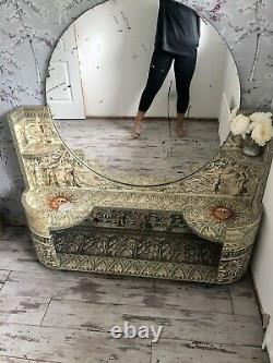Fornasetti Style Dressing Table Decoupage Français Mirror Console 50s 60s Unusual