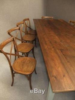 French Farmhouse Table À Manger En Bois Massif Et 10 Chaises En Bois Cuisine Set