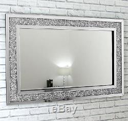 Gatsby Crystal XL - Miroir Mural Biseauté Rectangulaire Verre Vénitien 48x32
