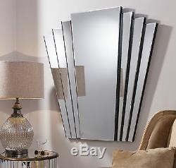 Gatsby Extra Large Miroir Mural Rétro Ovale Vintage Style Art Déco 39 X 39