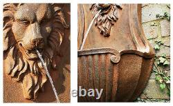 Gentle Lion Head Wall Fontaine Caractéristique De L'eau Bronze Antique Animal Vintage Look