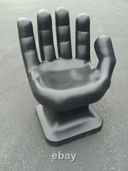 Giant Black Hand Shaped Chair 32 Haut Adulte Taille 70's Retro Eames Icarly Nouveau