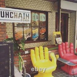 Giant Noir Main Gauche Shaped Chair 32 Grand Adulte 70's Retro Eames Icarly Nouveau
