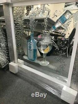 Gin Art Paillettes 3d Image Miroir, Image Moderne Avec Cadre En Bois