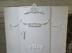 Glamorous Vintage Painted Français Deco Style Armoire Belle Intérieur Shabby Chic