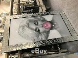 Glitter Sparkle, Image Marilyn Monroe Bubble Gum Dans Un Cadre Scintillant