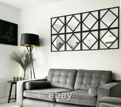 Gorgeous Set Of 3 Manhattan Mirrors Black Square Mirror Hallway Salon