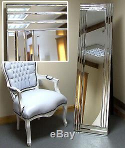 Grace Moderne Autoportante Cheval Floor Miroir De Chambre Salon Venetian 15 X 59