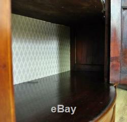 Grand Antique Edwardian Marqueté En Acajou Avec Nœud Présentoir, Nouvellement Doublé